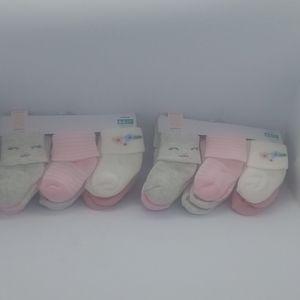 New! Bundle of Baby Girl socks